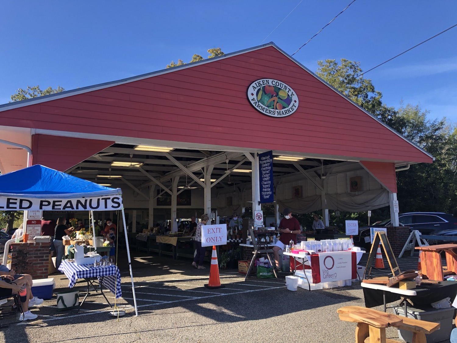 The farmers market is one of the best things to do in Aiken in December 2020.